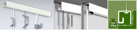 Classic rail up, schilderijophangsysteem, plafondsysteem