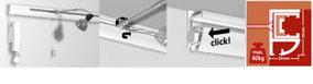 Combi rail pro light, schilderijophangsysteem, wandsysteem