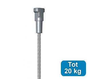 Staalkabel met Twister 200cm (max 20kg) 7902484