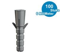 PLUG, 6 mm UNIVERSEEL per 100 stuks 9.4930