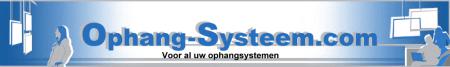 Logo schilderij ophangsysteem shop
