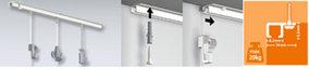 Top rail, schilderijophangsysteem, plafondsysteem