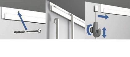 Classic rail+ - Ophang-systeem.com | Schilderij ophangsysteem en meer