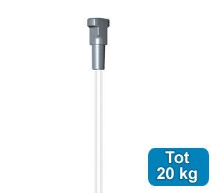 SET TWISTER perlon 2 mm 150cm + OPHANGHAAK ZWAAR, max. 7kg per 10 stuks 9.6672