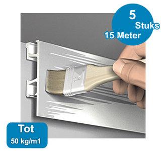 CLICK RAIL PRO, WIT PRIMER, 300cm, max. 50 kg, per 5 stuks 05.05430