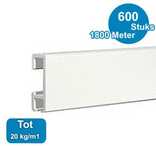 CLICK RAIL, WIT, 300 cm, 20 kg/m1, per 600 stuks 9.4304P