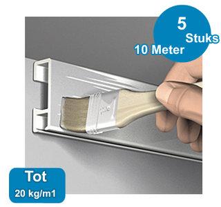 CLICK RAIL, PRIMER, 200 cm, max. 20 kg, per 5 stuks 9.4348