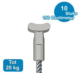 STAALDRAAD +SOLID, RVS, 1,8 mm, 150 cm, per 10 stuks 08.43150