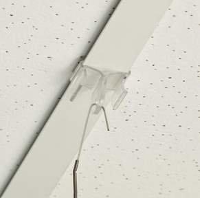 plafondclip voor systeemplafonds