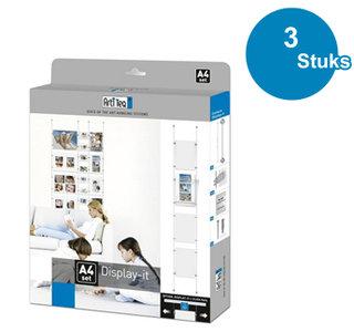 BOX DISPLAY-IT, E-CLIP, A4, per 3 stuks 7830.401