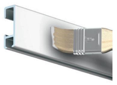 Click Rail wit primer 150 cm per 20 stuks