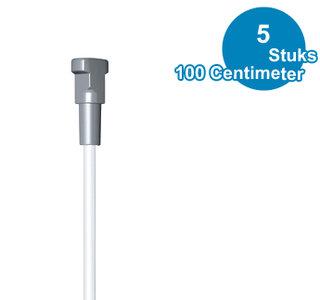 TWISTER OP STANG, 2mm, WIT, 100 cm, per 5 stuks 9.4196