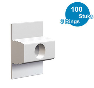 CLICK & CONNECT, CLICK RAIL, 3 RINGS, per 100 stuks 9.4119