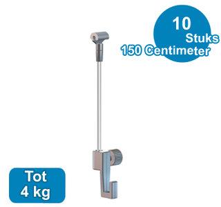 SET TWISTER 150cm + MINI-HAAK, max. 4kg, per 10 stuks 9.6670