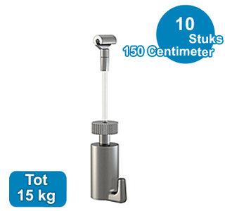 SET TWISTER 2 mm 150 cm + PALHAAK, max. 15kg, per 10 stuks 9.6674