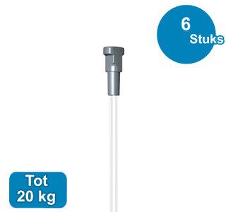 blister art 6, perlon 2 mm + twister, 200cm, max. 20kg, per 6 sets 9.7076