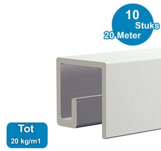 classic-up rail wit 200 cm per 10 stuks 05.11200