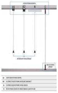 kabels 1 mm imagine it vaste bevestiging 400 cm boven en onder
