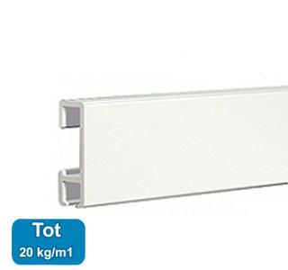 CLICK RAIL, WIT, 200 cm, 20 kg per meter, per 1 stuk 9.4303