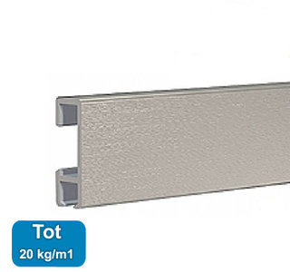 CLICK RAIL, ALU GEBORSTELD, 200 cm, 20 kg per meter, per 1 stuk 9.4341AA