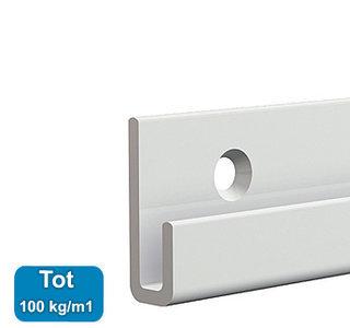classic+ rail, wit, 300 cm, max. 100 kg, per stuk 9.4319AA