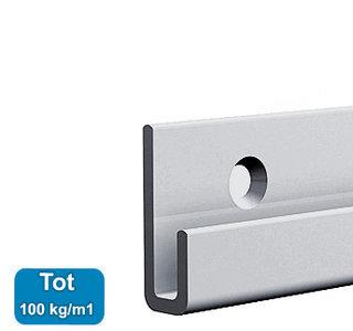 CLASSIC+ RAIL , ALU, 200 cm, max. 100 kg, per stuk 9.4320AA