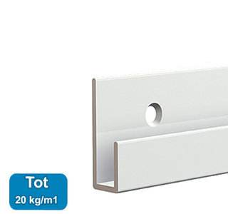 CLASSIC RAIL, WIT, 200 cm, 20 kg /m1, per stuk 9.4307AA