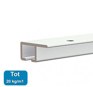 TOP RAIL, WIT, 200cm, max. 20kg /m1, per stuk 9.4309AA