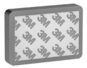 magneet bevestigingsblok 75 x 50 x 11 mm anti-slip