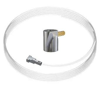 set twister 2 mm 150cm + ophanghaak rond messing, max. 5kg per stuk
