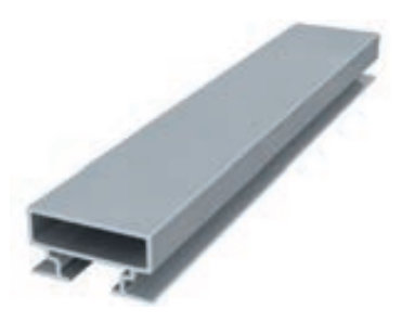 back frame rail 15 mm 300 cm alu brute