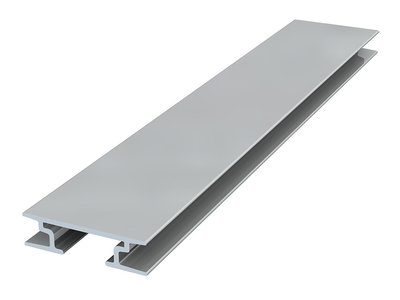 back frame rail 8 mm 300 cm zilver geanodiseerd