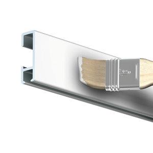 click rail wit primer 4 meter incl. bevestigingsmateriaal en 50 twister hooks