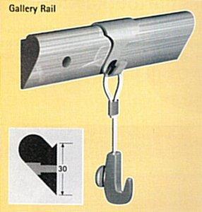 houten gallery schilderij rail hout max. 20 kg p/m per stuk 9.7120