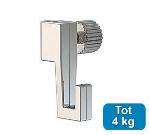 minihaak 4 kg voor max. 2 mm perlondraad en staaldraad