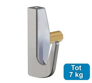 ophanghaak zwaar messing 7 kg voor max. 2 mm perlondraad en staaldraad