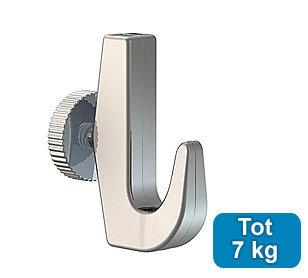 ophanghaak zwaar 7 kg voor max. 2 mm perlondraad en staaldraad