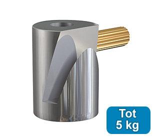 ophanghaak rond messing 5 kg voor max. 2 mm perlondraad en staaldraad