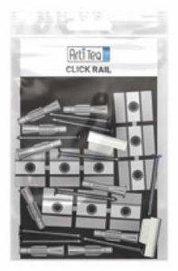 montageset click rail 200 cm zwart per 10 sets