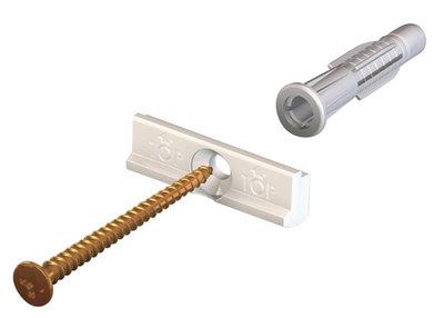 montageset contour rail wit 200 cm per 10 sets