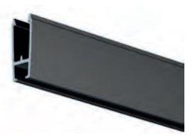 xpo rail 200 cm zwart per 5 stuks