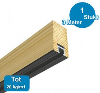 ART STRIP wit, 300cm, max. 20 kg /m1, per stuk 05.08300