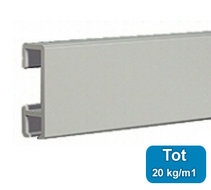 XL Schilderij ophangsysteem 200cm kleur aluminium geanodiseerd (max 20kg/m1) 9.4301