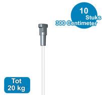 PERLONKOORD MET TWISTER, 300cm (max 20kg), per 10 stuks 09.23300