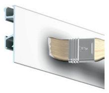 CLICK RAIL PRO, WIT PRIMER, 300cm, max. 50 kg, per stuk 05.05430AA